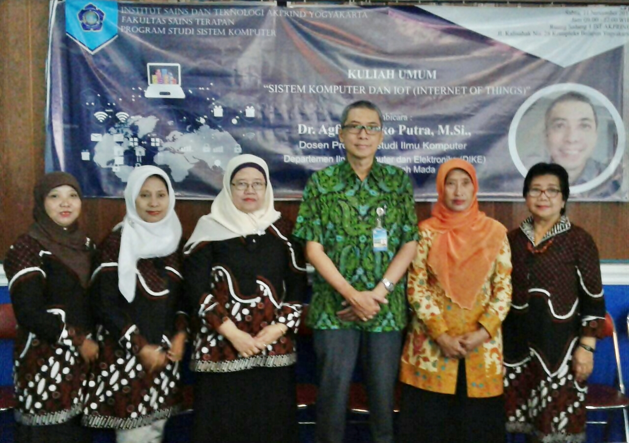 "Kuliah Umum ""Mengenal Sistem Komputer dan Internet of Things"""