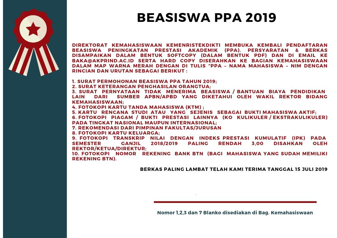 BEASISWA PPA 2019