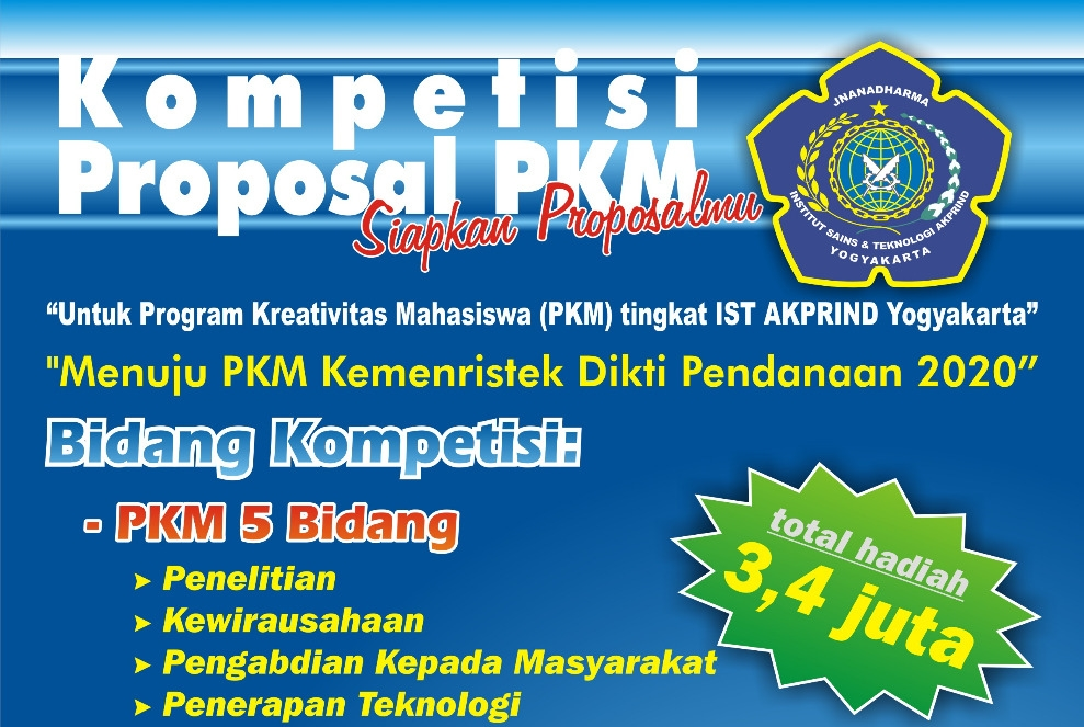 Kompetisi Proposal PKM IST AKPRIND 2019